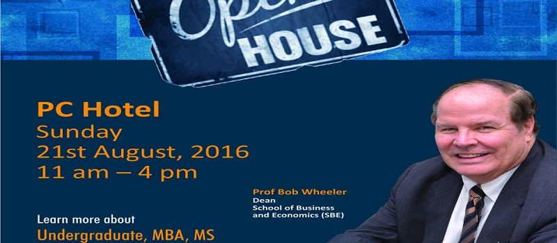 UMT (University of Management and Technology ) School of Business and Economics  arranged Open House
