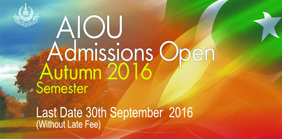 Admissions extended till 30th September 2016